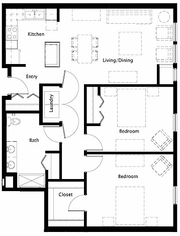 House plans wheelchair accessible square feet house for Handicap floor plans